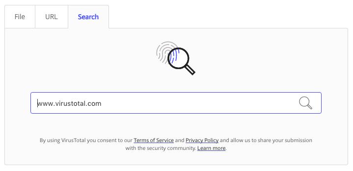 Searching – VirusTotal