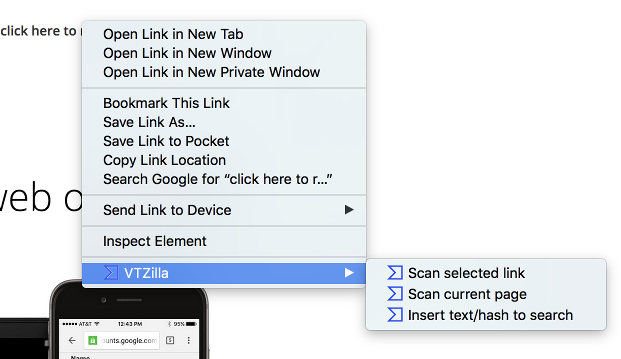 VirusTotal Browser Extention