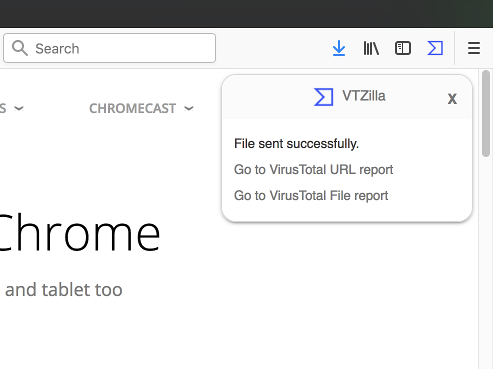 Browser Extensions – VirusTotal